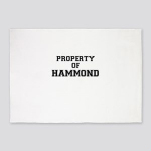 Property of HAMMOND 5'x7'Area Rug