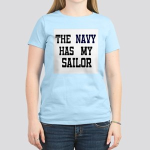 The Navy has my Sailor, but i Women's Pink T-Shirt