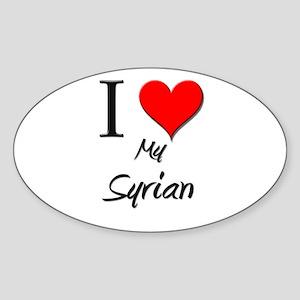 I Love My Syrian Oval Sticker