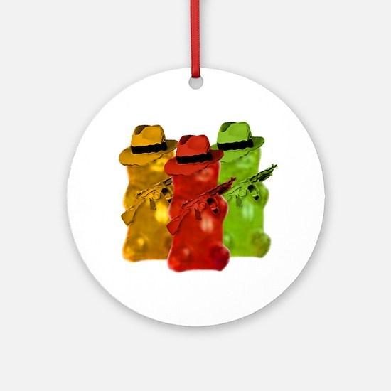 Gummi Bear Mob Ornament (Round)