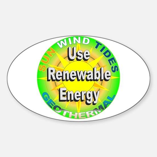 Use Renewable Energy Oval Decal