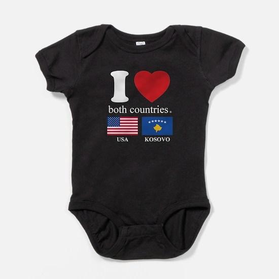 USA-KOSOVO Baby Bodysuit