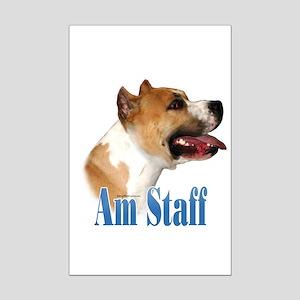Staffy Name Mini Poster Print
