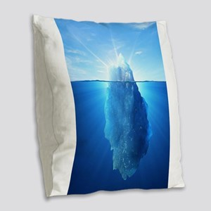 Iceberg Nature Photography Burlap Throw Pillow