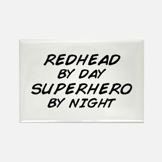 Redhead Superhero Rectangle Magnet