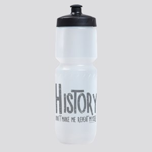 Repeat History Rough Text Sports Bottle