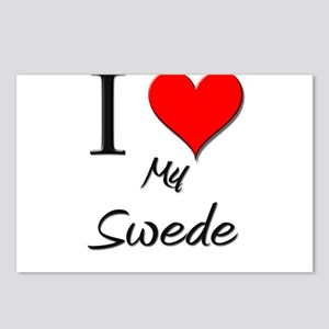 I Love My Swede Postcards (Package of 8)