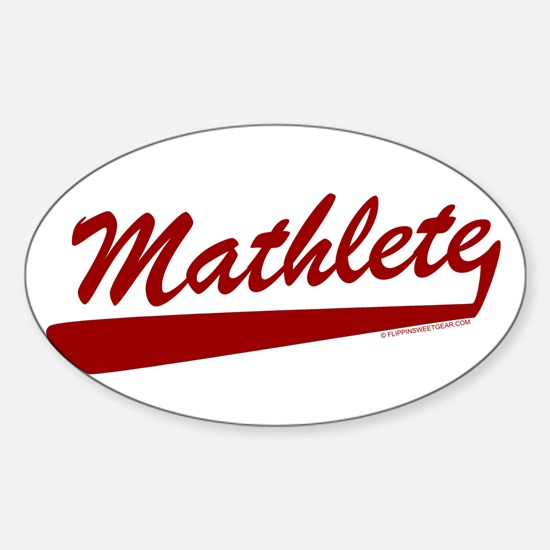 Mathlete Oval Decal