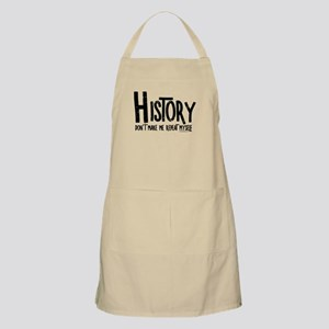 Repeat History Rough Text Apron
