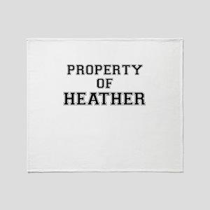 Property of HEATHER Throw Blanket