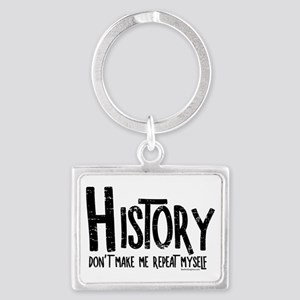 Repeat History Rough Text Keychains