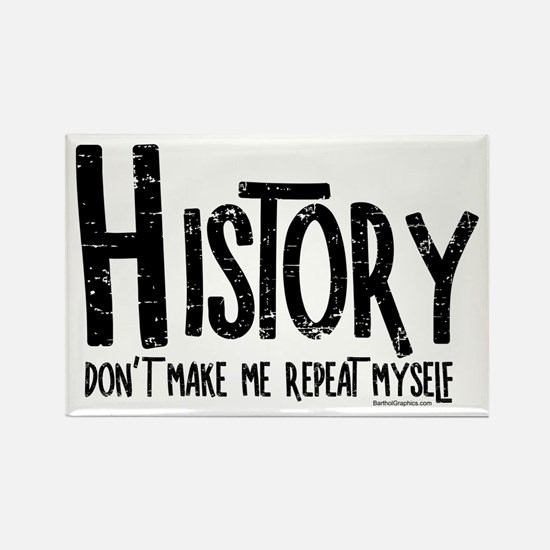 Repeat History Rough Text Magnets