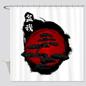 Japanese Bonsai Shower Curtain