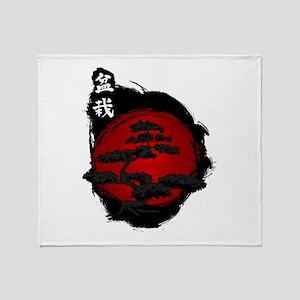 Japanese Bonsai Throw Blanket