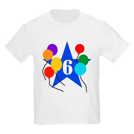 Star 6th Birthday Kids T-Shirt