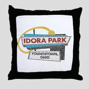 Idora Park Sign Throw Pillow