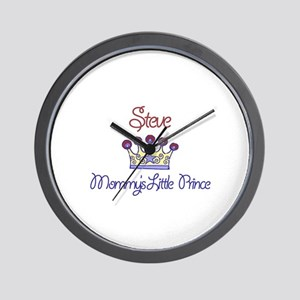 Steve - Mommy's Little Prince Wall Clock