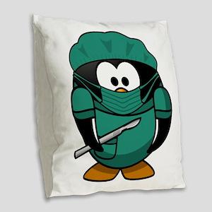Surgeon Burlap Throw Pillow