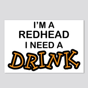 Redhead Need a Drink Postcards (Package of 8)