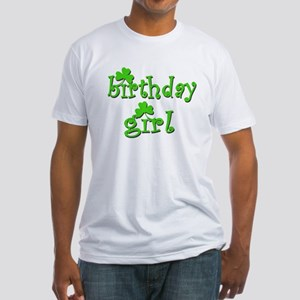 Irish Birthday Girl Fitted T-Shirt