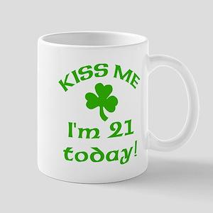 Kiss Me I'm 21 w/Shamrock Mug