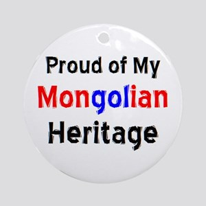 mongolian heritage Round Ornament