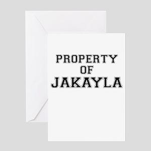 Property of JAKAYLA Greeting Cards
