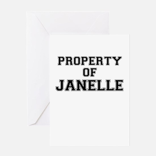 Property of JANELLE Greeting Cards