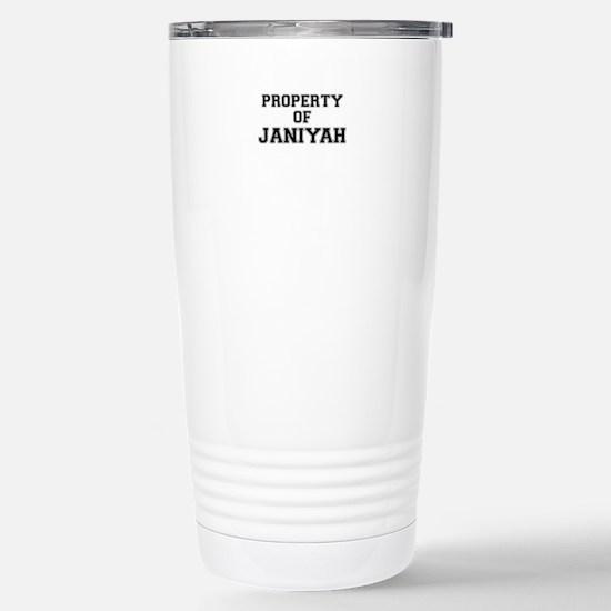 Property of JANIYAH Stainless Steel Travel Mug