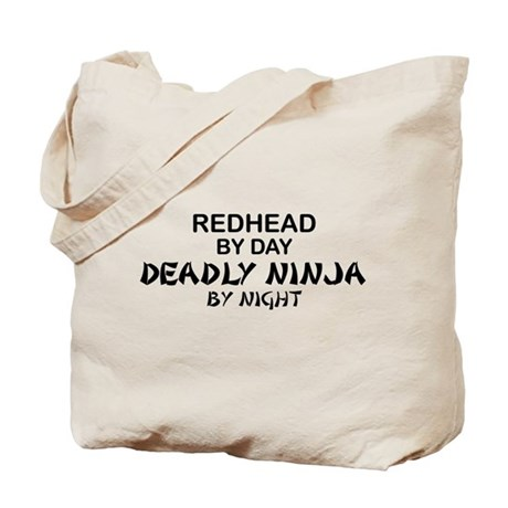 Redhead Deadly Ninja Tote Bag