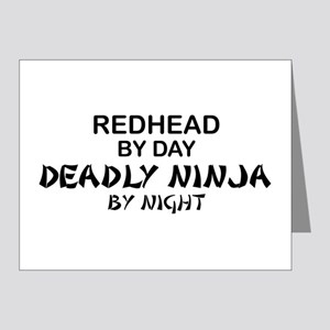 Redhead Deadly Ninja Note Cards (Pk of 10)