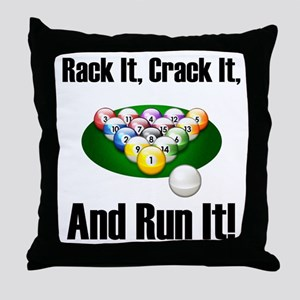 Rack It, Crack It Throw Pillow