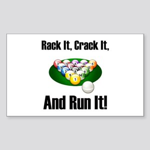 Rack It, Crack It Rectangle Sticker