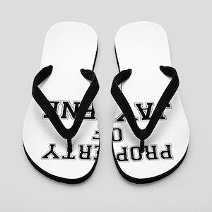 Property of JAYLENE Flip Flops