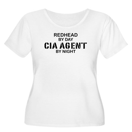 Redhead CIA Agent Women's Plus Size Scoop Neck T-S