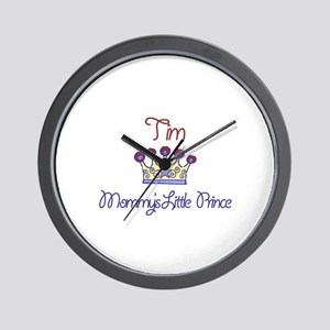 Tim - Mommy's Little Prince  Wall Clock