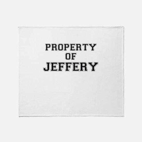 Property of JEFFERY Throw Blanket