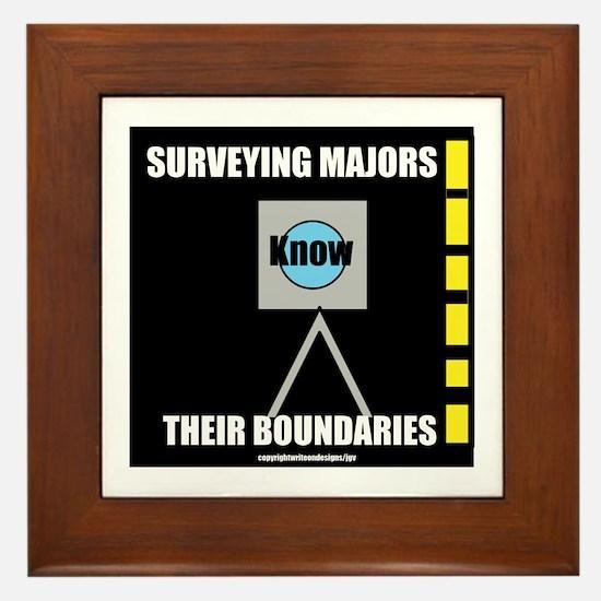 Surveying Majors Know Their Boundaries Framed Tile