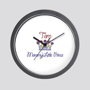 Tom - Mommy's Little Prince  Wall Clock