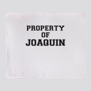 Property of JOAQUIN Throw Blanket