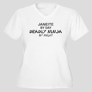 Janeite Deadly Ninja Women's Plus Size V-Neck T-Sh