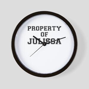 Property of JULISSA Wall Clock