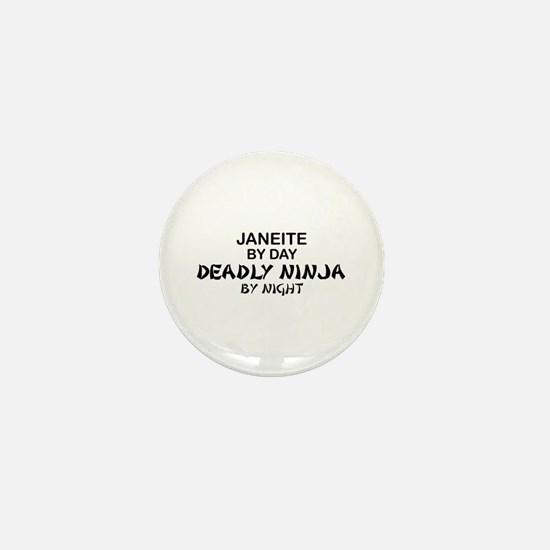 Janeite Deadly Ninja Mini Button