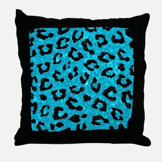 SKIN5 BLACK MARBLE & TURQUOISE MARBLE Throw Pillow