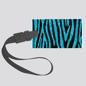 SKIN4 BLACK MARBLE & TURQUOISE M Large Luggage Tag