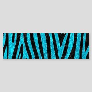 SKIN4 BLACK MARBLE & TURQUOISE MA Sticker (Bumper)