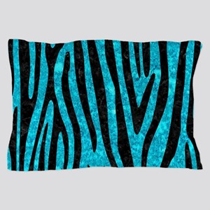 SKIN4 BLACK MARBLE & TURQUOISE MARBLE Pillow Case