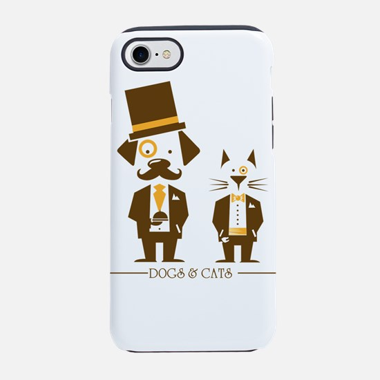 dogs and cats iPhone 8/7 Tough Case