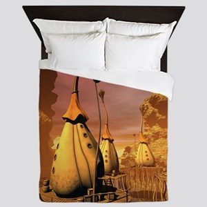 Awesome fantasy world Queen Duvet
