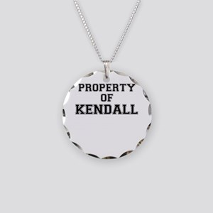 Property of KENDALL Necklace Circle Charm